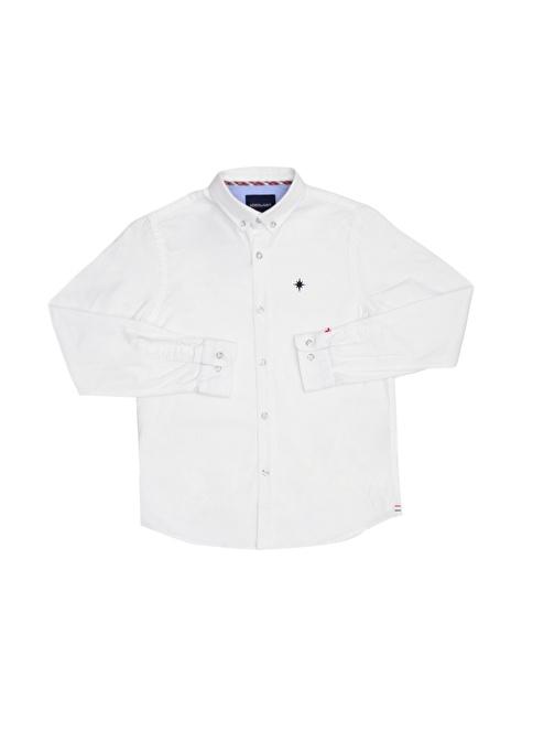 North Of Navy Gömlek Beyaz